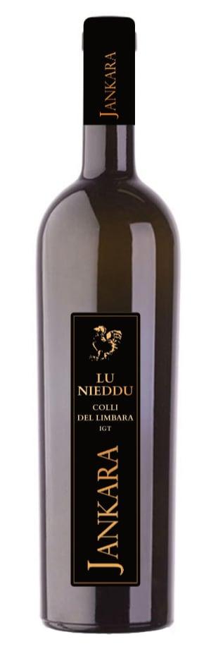 una bottiglia di vetro scuro per il vino Jankara Lu Nieddu